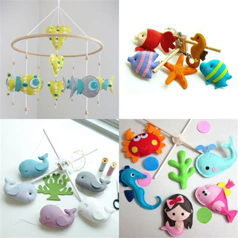 Handmade Baby Mobiles Australia - handmade the sea mobiles popsugar