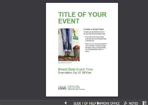 small business flyer template event presentation templates for powerpoint