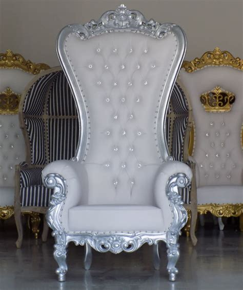 large throne chair large wedding throne chair silver and white we a