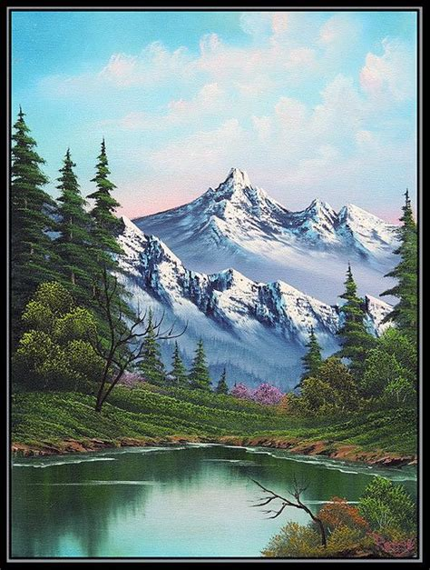 bob ross painting classes in utah a happy bob ross painting goes up on ebay bobs