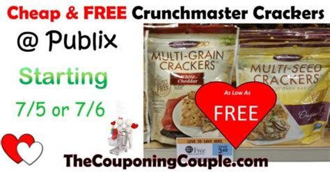 cheap crunchmaster crackers publix today only as low