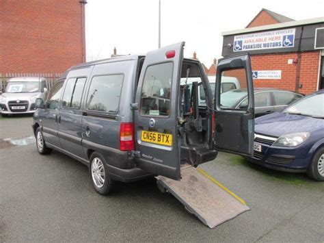fiat scudo  seater wheelchair accessible vehicle