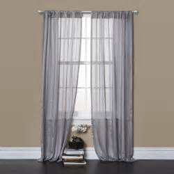 Sheer Grey Curtains Lush Decor Rhythm Grey 84 Inch Sheer Curtain Panel Pair Contemporary Curtains By Overstock