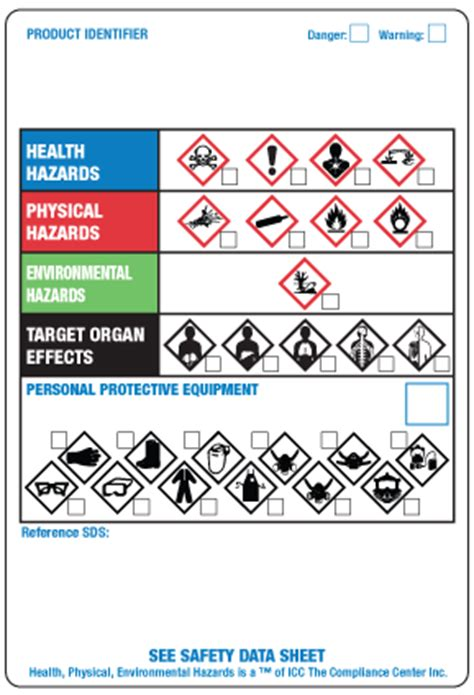 secondary container label template msds workplace label template ghs labels secondary ghs