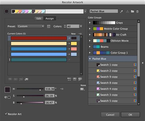 adobe illustrator cs6 recolor artwork color illustrator gt recolor artwork how to manually