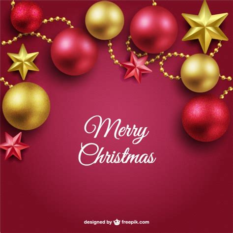 merry christmas wallpaper vector merry christmas background with red and golden balls