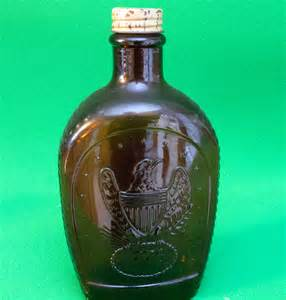 log cabin syrup bicentennial brown bottle 1776 and eagle