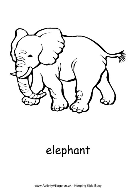 elephant coloring pages pdf elephant colouring page 2