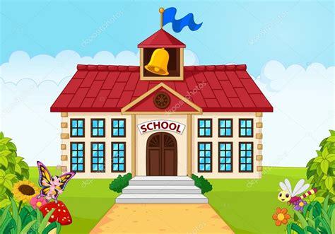 imagenes animadas de una escuela aislado con jard 237 n verde del edificio de la escuela de