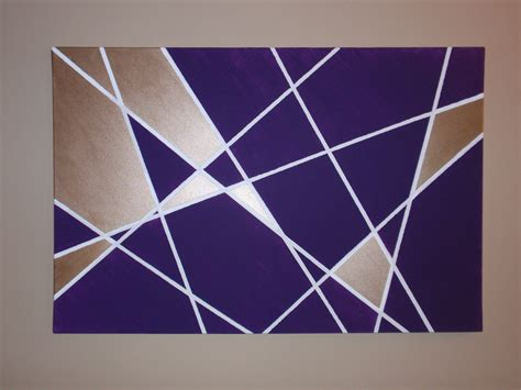 pattern wall canvas wall art ideas design purple rectangle geometric wall