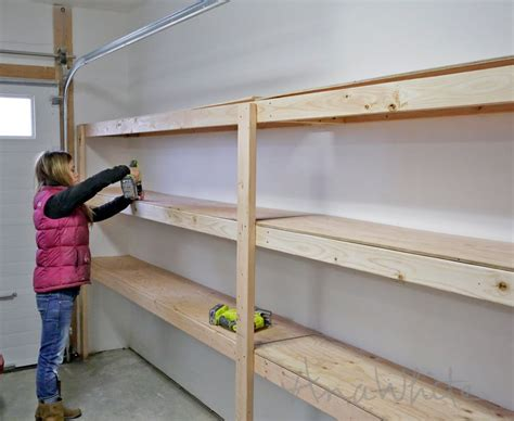 how to build garage shelving easy cheap and fast