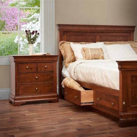 le chateau bedroom set amish handcrafted solid