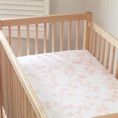 Light Pink Crib Sheet by Juniper Organic Light Pink Crib Sheets Unison