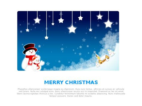 email template greeting happy holidays christmas blue