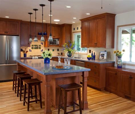 kitchen ideas with brown cabinets blue kitchen design ideas quicua com