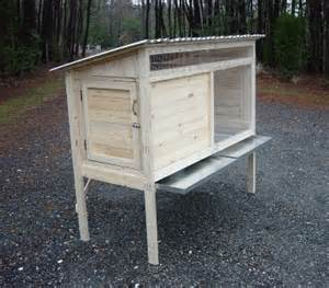 Rabbit Hutch Build How To Build A 5 Ft Rabbit Hutch Wood Plans Include Photos