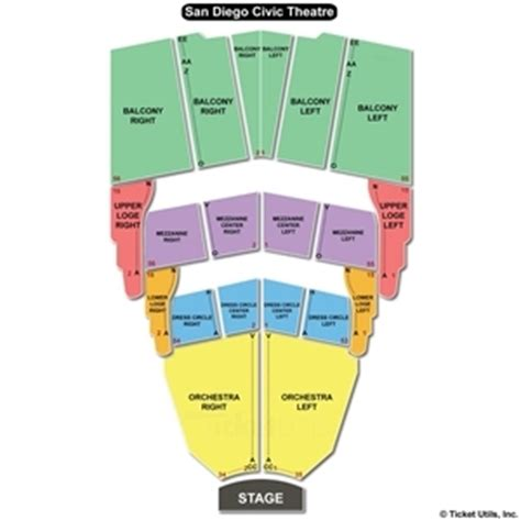san diego civic center seating san diego civic theatre seating chart san diego civic