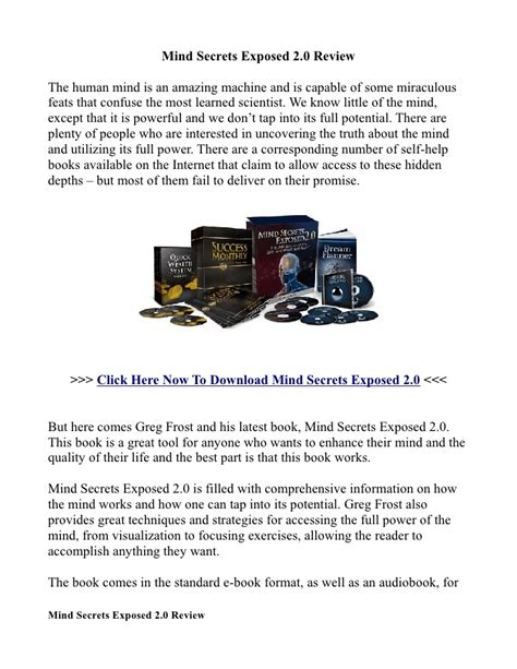 Mind Secrets mind secrets exposed 2 0 review