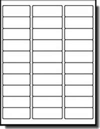 Label Template 30 Per Sheet | printable label templates