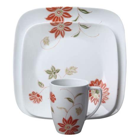 corelle flower pattern corelle 174 square matilda 16 pc dinnerware set loose