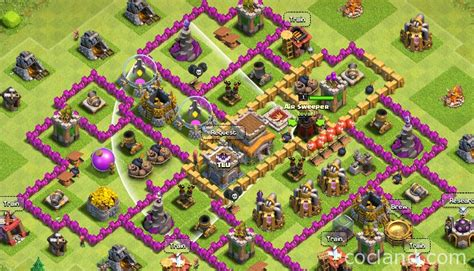 th8 base layout th8 trophy base collection clash of clans land