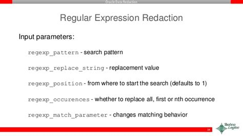 xsd pattern regular expression email oracle data redaction