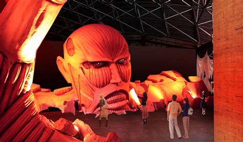 theme line attack on titan attack on titan ride arrives at fuji q tokyo otaku mode