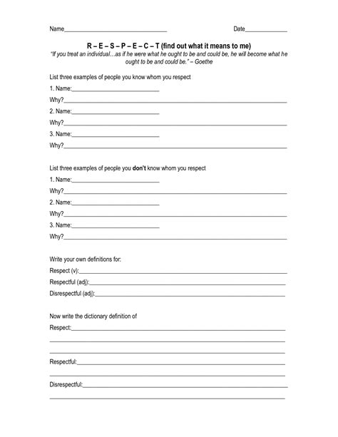 printable worksheets on respect 18 best images of girl scout worksheets girl scout