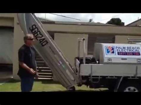 boat loader using car winch boat loader loading youtube