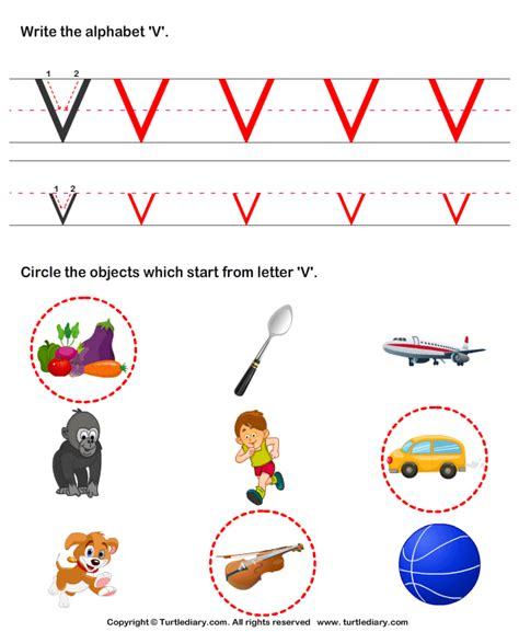 words with the letter v letter v words for preschool worksheets for all 1741