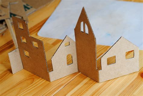 Make A 3d Paper City - diy craft an adorable from recycled