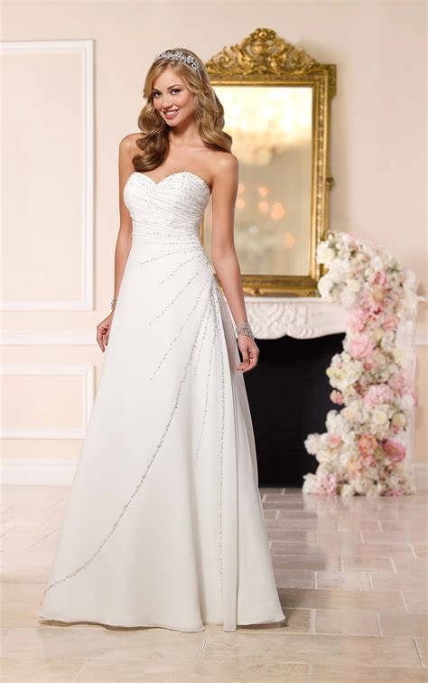 beaded gown wedding dress diamante beaded wedding dress stella york wedding dresses
