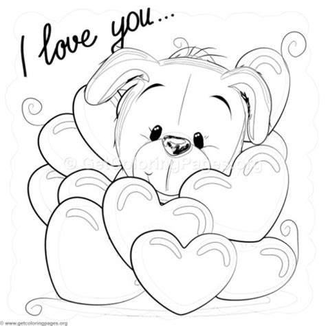 i love you puppy coloring pages free printable coloring pages for adults advanced