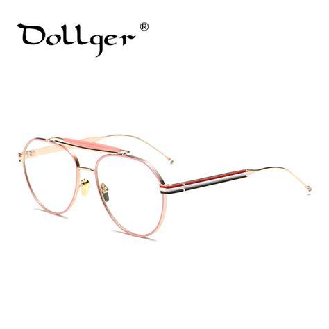 Kacamata Wanita 26670r Fullset 6 dollger keren mode kacamata wanita merek kacamata frame pria kacamata bingkai emas kacamata