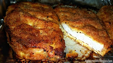 chop the delicious baked parmesan crusted pork chops