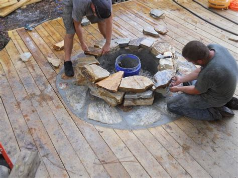pit on wood deck safety 17 best images about backyard pathway and patio ideas on