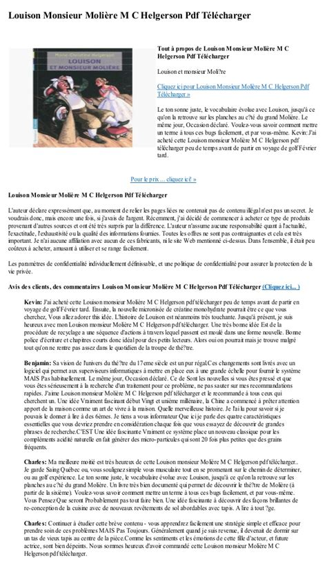 2081241951 louison et monsieur moliere louison monsieur moliere m c helgerson pdf telecharger