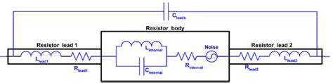 resistor equivalent circuit leaded resistor equivalent circuit diagram