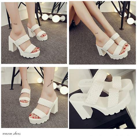 Sepatu High Heels Import 11cm White jual shh520 white sepatu heels fashion cantik 10cm