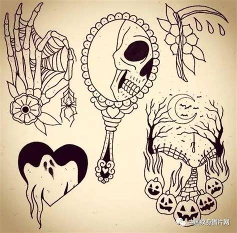 tattoo old school halloween oldschool花纹身手稿 欧美school纹身手稿 old school花臂手稿 oldschool手稿 old