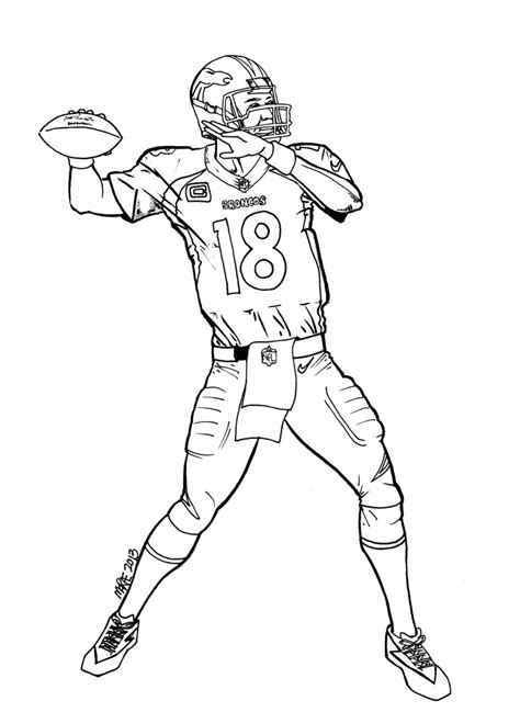 Peyton Manning Coloring Pages paul s 187 peyton manning player of the week