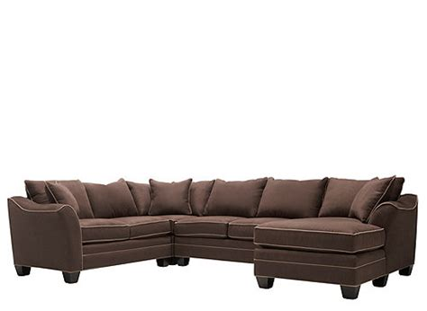 4 Pc Sectional Sofa Foresthill 4 Pc Microfiber Sectional Sofa Chocolate