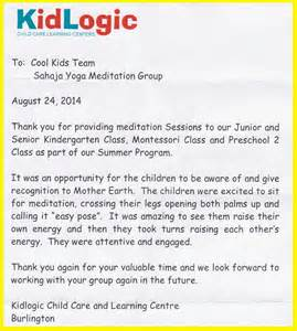 Thank You Letter After Interview Daycare pics photos about thank you letter to kindergarten teacher from