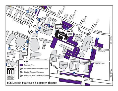 carolina college map map of ecu cus