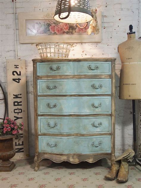 How To Paint Shabby Chic Furniture by Reserved For Tali Painted Cottage Chic Shabby Aqua