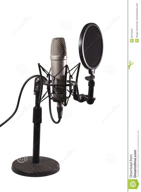 desk mounted microphone stand desk condenser microphone royalty free stock photography image 30112427