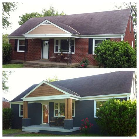 brick house renovation before and after 25 best ideas about front porch pillars on pinterest front porch posts front porch