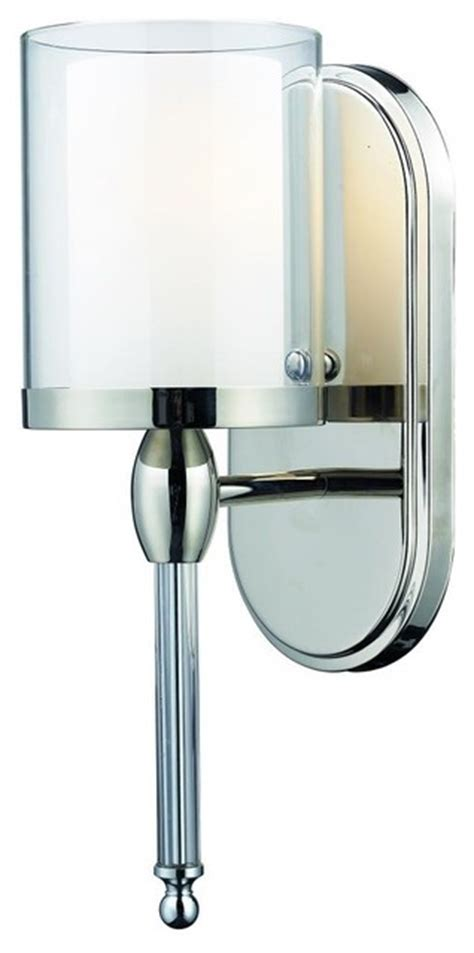Chrome Glass Bathroom Sconce Contemporary Bathroom Chrome Bathroom Sconces