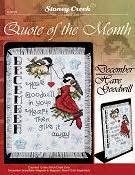 Kain Aida Kristik Cross Stitch 14ct Garden Pearl Blue quote of the month january today stoney creek store
