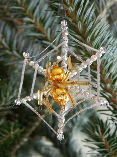 spider and web christmas tree ornament insect decor